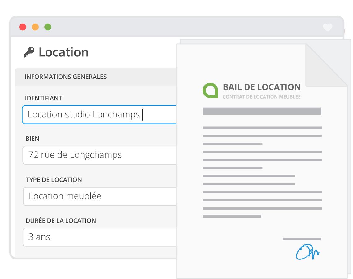Modele bail rentila document online - Contrat de location meublee saisonniere ...